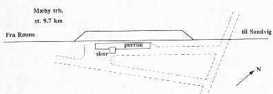 Mæby 9.7 km sporplan
